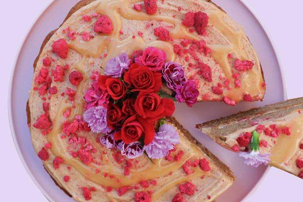 Triple Berry & Rose Cake